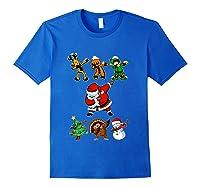 Dabbing Santa Friends Christmas Girls Xmas Gifts Shirts Royal Blue