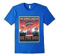 Alien Ufo 5k Fun Run Storm Area 51 Shirts Royal Blue