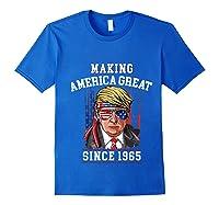 Happy 1965 It's My 54th Years Old Birthday Gift Ideas Tshirt Royal Blue