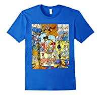 Wizard Of Oz Montage Shirts Royal Blue
