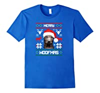 Thai Ridgeback Gift For Merry Christmas Woofmas Clothes Shirts Royal Blue