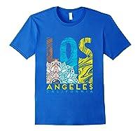 Los Angeles Shirt California City Los Angeles T Shirt Royal Blue