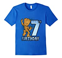Guardians Of The Galaxy Baby Groot 7th Birthday Shirts Royal Blue