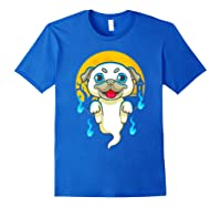 Cute Pug Dog Lover Ghost Funny Halloween Costume Gifts Shirts Royal Blue