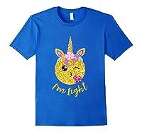 8th Birthday Emoticon Shirt Unicorn 8 Year Girl Sweet Face T-shirt Royal Blue