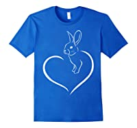 Rabbi Rabbit Heart Gift For Rabbit Lover Shirts Royal Blue