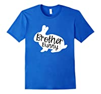 Brother Bunny Cute Rabbit Family Easter Gift Shirts Royal Blue