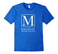 Macaulay Honors College Mountain Lions Ppmhc02 Shirts Royal Blue