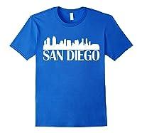 San Diego City Skyline Hot 2019 T Shirt Royal Blue