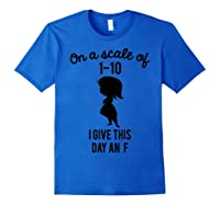 Pixar Inside Out Scale Of 1 10 Graphic Shirts Royal Blue