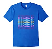 Chicana Af Shirt, Pride Gift For , Chicana Girls Tank Top Royal Blue