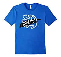 Lion King Simba Cave Painting Smear Graphic Shirts Royal Blue
