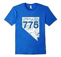 Carson City Reno Sparks Area Code 775 Shirt Nevada Gift Royal Blue