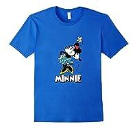 Disney Minnie Mouse Flower T Shirt Royal Blue