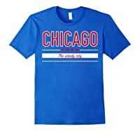 Chicago Flag T Shirt The Windy City Illinois Tee Royal Blue
