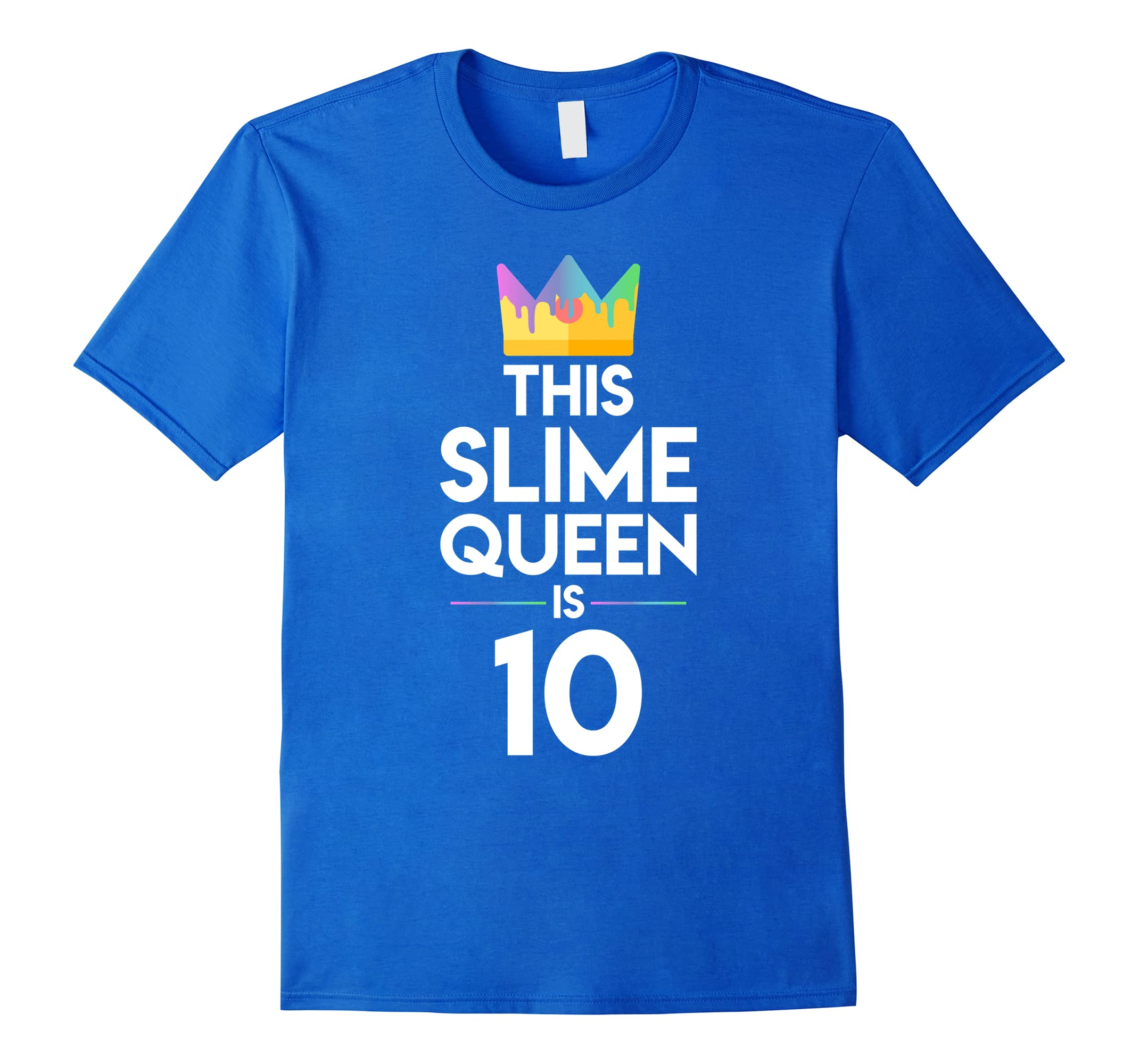 10th Birthday Shirt for Girls This Slime Queen is 10-RT
