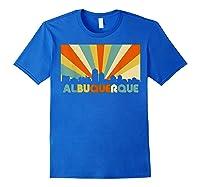 Albuquerque T Shirt City Skyline 70s Retro Souvenir Shirt Royal Blue