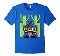 8 Bit Bayley Shirts Royal Blue