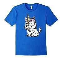 Bichon Frise Unicorn Hat Funny Dog Gift Shirts Royal Blue