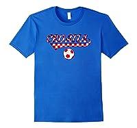 Croatia Team World Fan Soccer 2018 Cup Fan T Shirt Royal Blue