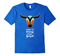 Carnaval De Barranquilla Mascara De Toro T Shirt Royal Blue
