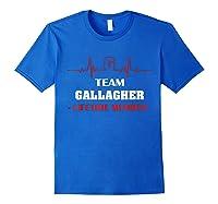 Team Gallagher Lifetime Member Family Shirt 5ts Royal Blue