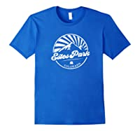 Estes Park Colorado Retro Vintage City Mountains T Shirt Royal Blue