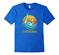 Catalina Souvenir Island California Shirts Royal Blue