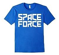 Space Force () Shirt Royal Blue
