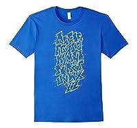 Grafi Tag Lettering Abc B-boy Streetart Urban Art T-shirt Royal Blue