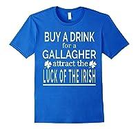 Gallagher Luck Of The Irish Namesake Family Gift T Shirt Royal Blue