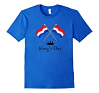Happy King's Day Koningsdag Netherlands Dutch Holiday Lion Shirts Royal Blue