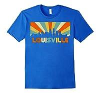 Louisville T Shirt City Skyline Retro 70s Souvenir Shirt Royal Blue