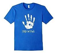 Jesus Hand Print, Paid In Full Christian Faith Shirts Royal Blue