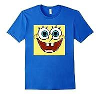 Nickelodeon Spongebob Open Smile Face T-shirt Royal Blue