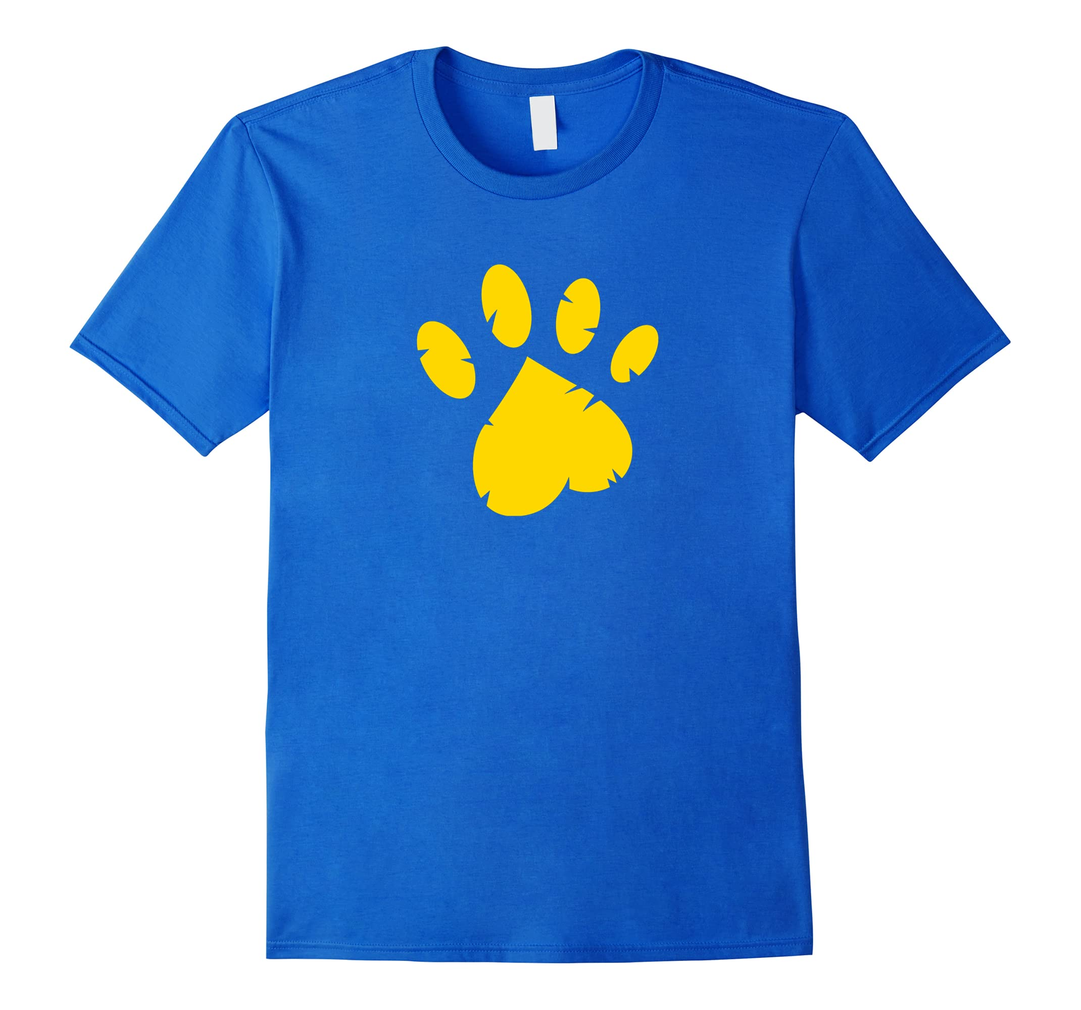 Animal Rescue T-Shirt in Royal Blue with Gold Paw-ah my shirt one gift