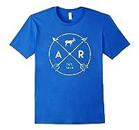 Arkansas Adventure Shirt Est 1836 Deer Arrow State Gift Royal Blue