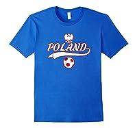 Poland Team World Fan Soccer 2018 Cup Fan T Shirt Royal Blue