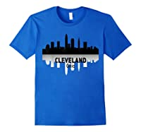 Cleveland Cleveland Skyline Native American Ther Shirts Royal Blue