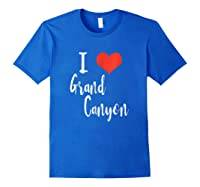 I Love Grand Canyon T Shirt Royal Blue