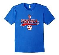 Tunisia Team World Fan Soccer 2018 Cup Fan T Shirt Royal Blue