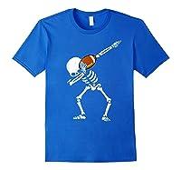 Halloween Dabbing Skeleton Football Dab Soccer Ball Shirts Royal Blue