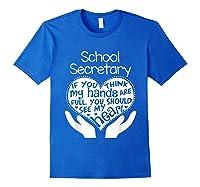 School Secretary Clerk Office Heart Group Gift Shirts Royal Blue