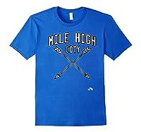 Mile High City Denver Premium T Shirt Royal Blue