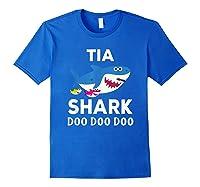 Tia Shark Doo Doo Doo Matching Family Shirts Royal Blue
