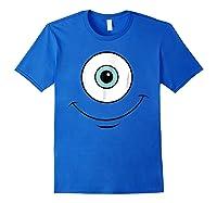 Monsters Inc Mike Eye Halloween Graphic Shirts Royal Blue