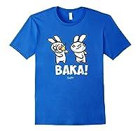 Funny Anime Baka Rabbit Baka Japanese Anime Lover Shirt Royal Blue