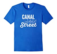 Canal Street Sign New York City Skyline Shirt For New Yorker Royal Blue