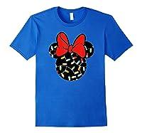 Disney Minnie Lights Up T Shirt Royal Blue