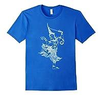Vishnu Hindu Deity Shirt Meditation T-shirt Royal Blue